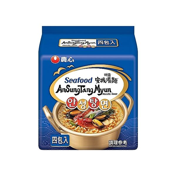 韓國 農心 安城湯麵(海鮮味)112gx4包 【小三美日】團購/泡麵