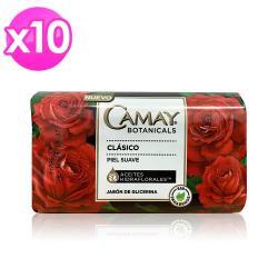 美國熱銷CAMAY經典經香皂-紅玫瑰(150g)10入組