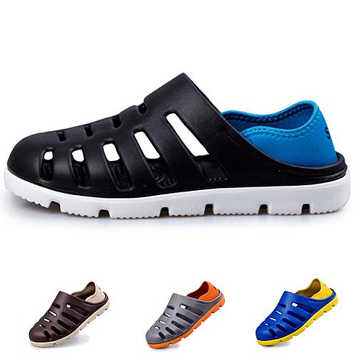 夏日玩水必備 男款兩穿式沙灘洞洞鞋 防滑休閒涼鞋 拖鞋 59鞋廊