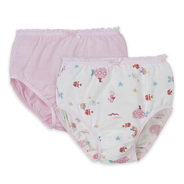 Baby City 海洋天絲女童內褲2入 (90-130)