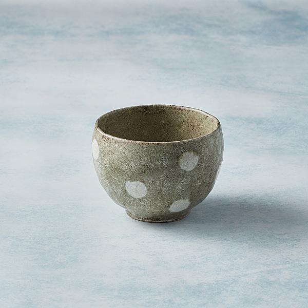 日本美濃燒 - 手感和風茶杯 - 水玉點點