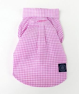 【PET PARADISE 寵物精品】JPRESS 格紋襯衫/桃 (SS) 寵物用品 寵物衣服《SALE》