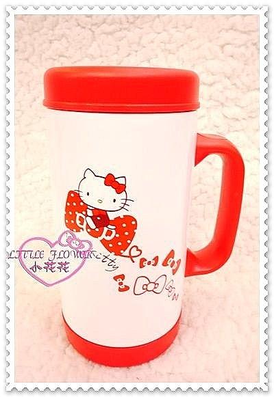 ♥小花花日本精品♥Hello Kitty 抱蝴蝶結不繡鋼保冰保溫杯 水壺 水杯隨行杯馬克杯子11212904