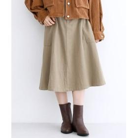 メルロー サイドポケット配色ボタンスカート レディース ベージュ FREE 【merlot】