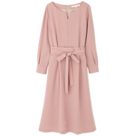 ◆[WEB限定商品]ジョーゼットベルト付ワンピース ピンク