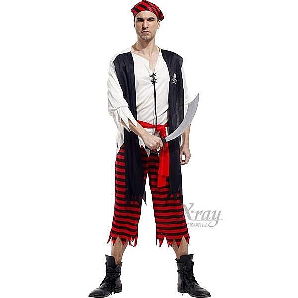 加勒比男海盜,化妝舞會/角色扮演/尾牙表演/萬聖節造型服裝/聖誕節/兒童變裝,節慶王【W919564】