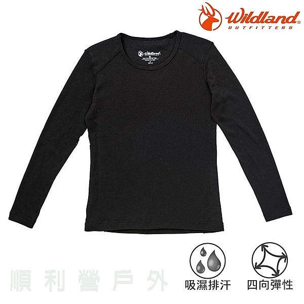 荒野WILDLAND 兒童Highest 彈性立領保暖衣 H2660 黑色 排汗快乾 衛生衣 內衣 發熱衣 OUTDOOR NICE