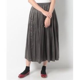 (Samansa Mos2/サマンサ モスモス)スウェード風プリーツスカート/レディース チャコールグレー