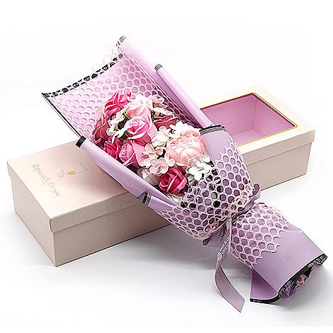 幸福婚禮小物❤玫瑰花香皂花束花盒❤畢業禮物/母親節禮物/情人節禮物/香皂花