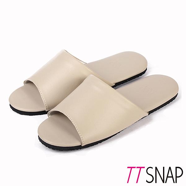 室內拖鞋-TTSNAP MIT輕量居家防滑拖鞋 米