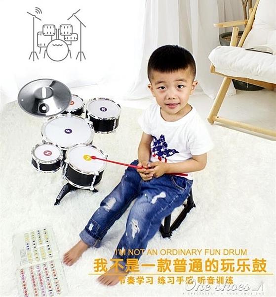 兒童架子鼓初學者爵士鼓打擊樂器男孩寶寶1-3-6-10歲益智音樂玩具 阿宅便利店