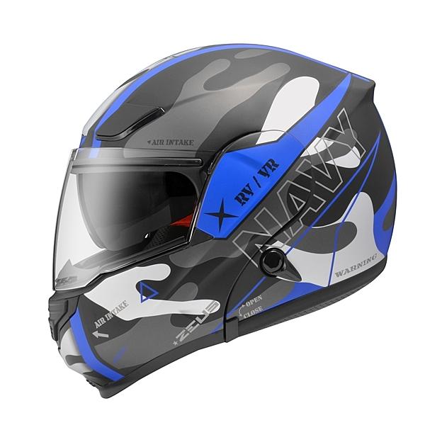 ZEUS 瑞獅 ZS 3300 GG25 全罩式可樂帽安全帽 消光黑藍
