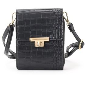 クチュールブローチ ウォレットミニショルダーバッグ レディース ブラック(019) 00 【Couture Brooch】