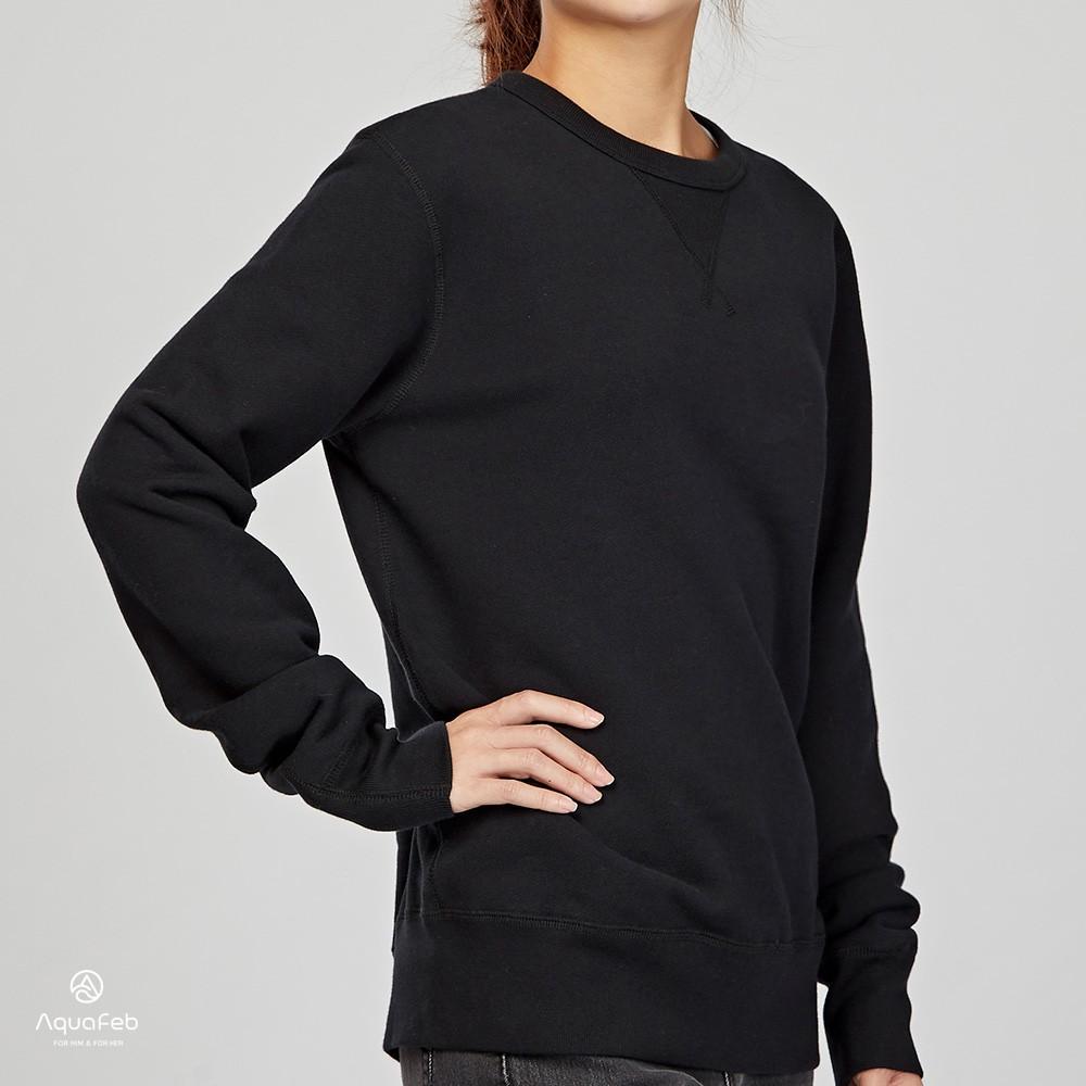 Converse Essentials Crew 女子 黑色 毛圈內裏 圓領 套頭 長袖上衣 10001018-A01