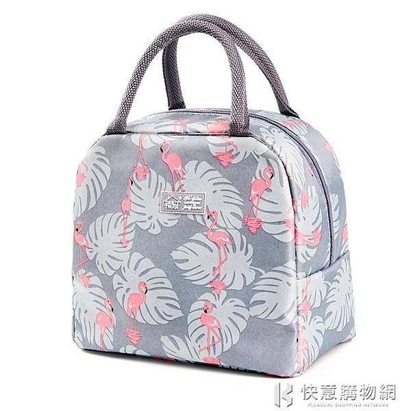 創得加厚飯盒保溫袋便當手提鋁箔包條紋帶飯手拎帆布袋子學生餐盒  快意購物網