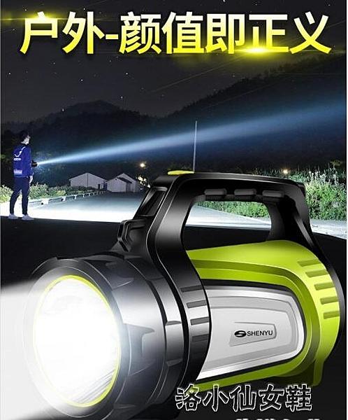 強光手電筒可充電超亮遠射LED氙氣多功能家用戶外5000探 『洛小仙女鞋』