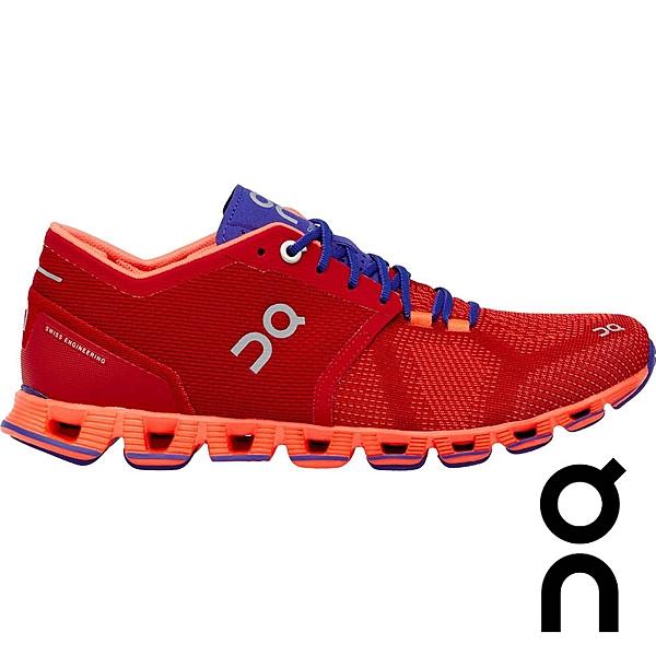 【瑞士 ON】女 CloudX 輕量雲X 跑鞋『蘋果紅』20.1658 多功能鞋.野跑鞋 越野鞋 慢跑鞋 馬拉松