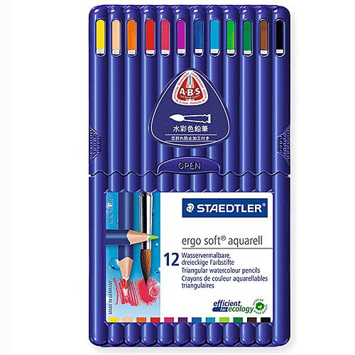 德國施德樓STAEDTLER-esgo soft全美水彩12色鉛筆*157SB12