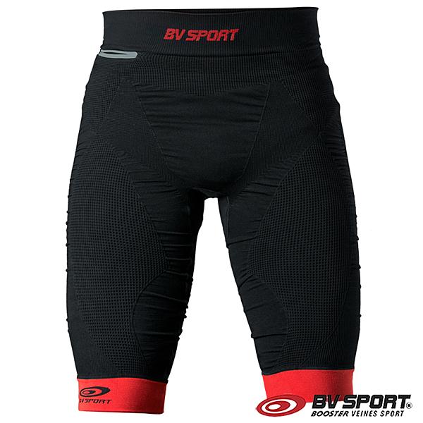 法國 BV SPORT TRAIL CSX 越野壓縮運動短褲 630/001『黑色/紅色』運動褲|緊身褲|慢跑