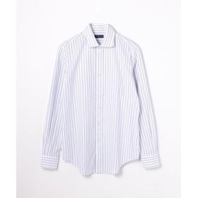 【50%OFF】 トゥモローランド メッシュストライプ ラウンドカラーシャツ メンズ 66ブルー系 XS 【TOMORROWLAND】 【セール開催中】