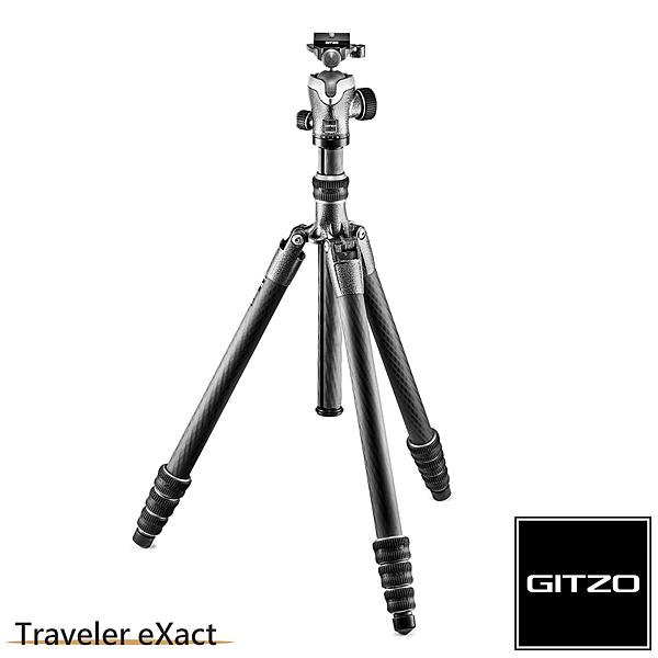 Gitzo Traveler eXact GK2545T-82QD 碳纖維三腳架雲台套組 2號4節-旅行家系列 (公司貨)