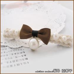 【Akiko Sakai坂井亞希子】少女蝴蝶結垂墜珍珠造型彈簧夾