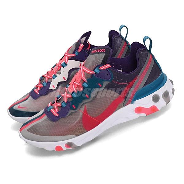 【四折特賣】Nike React Element 87 藍 粉紅 白 緩震回彈 透明鞋面 男鞋 女鞋 運動鞋【ACS】 CJ6897-061