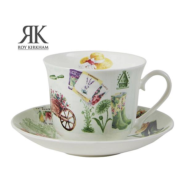 英國Roy Kirkham-祕密花園系列450ml骨瓷早餐杯盤組