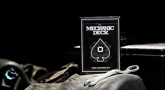 【USPCC 撲克】Mechanic Deck Playing cards 撲克牌 黑色