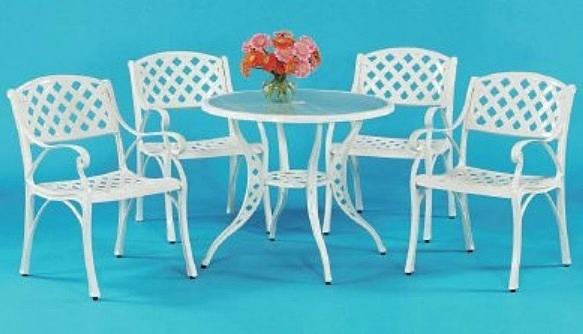 【南洋風休閒傢俱】戶外休閒桌椅系列-編織扶手玻璃桌椅組 戶外休閒餐桌椅組  (#301 #300)