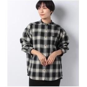 メラン クルージュ オンブレーチェックシャツ(オフ)