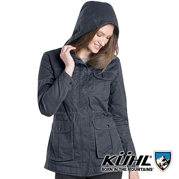 【KUHL】女 Luna 防風刷毛保暖外套 K2128『炭灰』戶外 冬季 禦寒 防風 防水 保暖 修身 長版 羽絨 外套