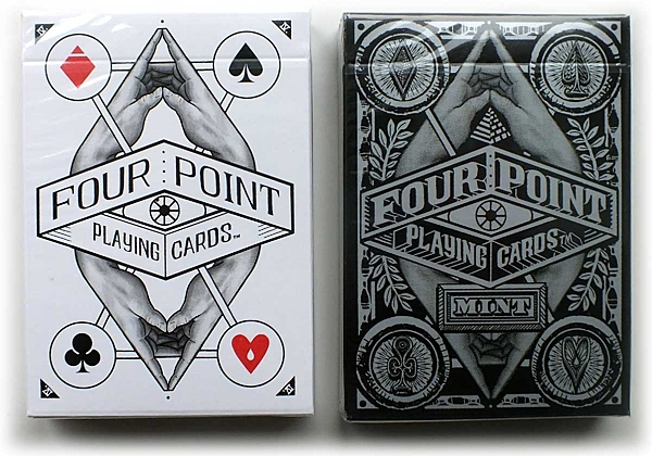 【USPCC 撲克】Four point playing cards 白/MINT 黑
