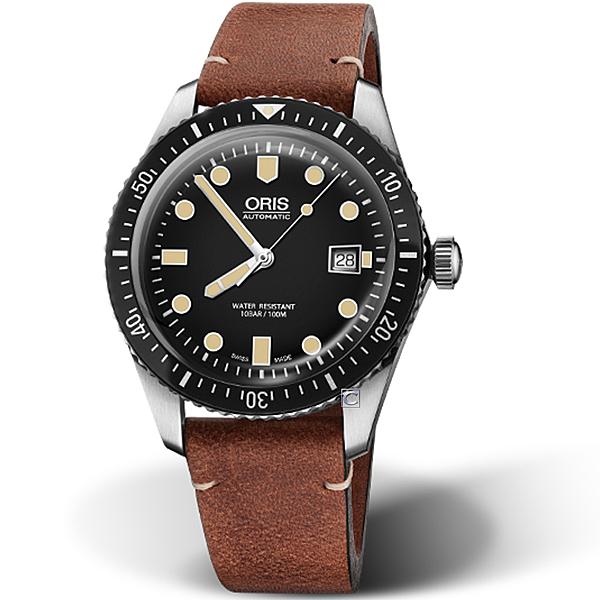 Oris豪利時Divers系列Sixty-Five潛水機械腕錶 73377204054-0752145