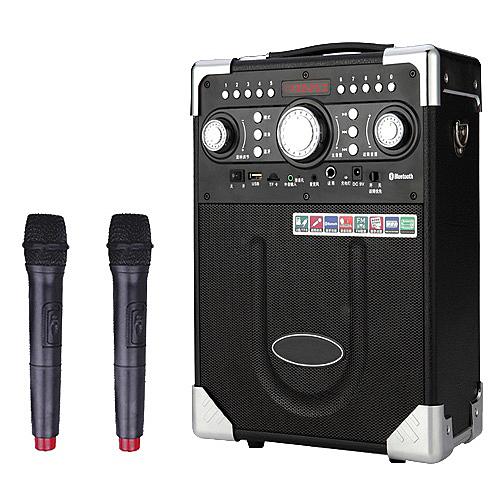 大聲公典雅型無線麥克風多功能行動音箱 (雙無線話筒組)