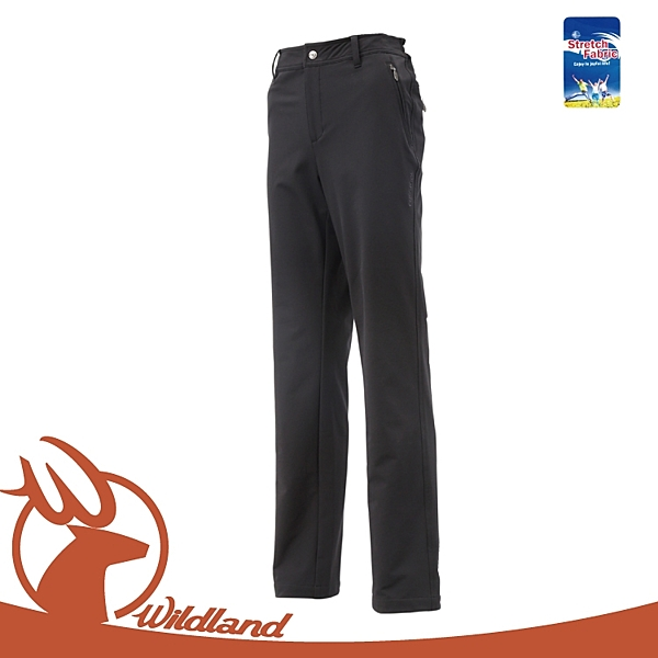 【Wildland 荒野 女 彈性保暖長褲《黑》】0A12303/工作褲/防風褲/登山