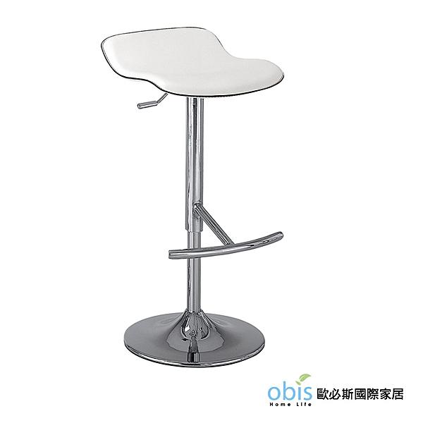 OB003-凱迪吧椅(白)(19CM/1047-8)【DD House】