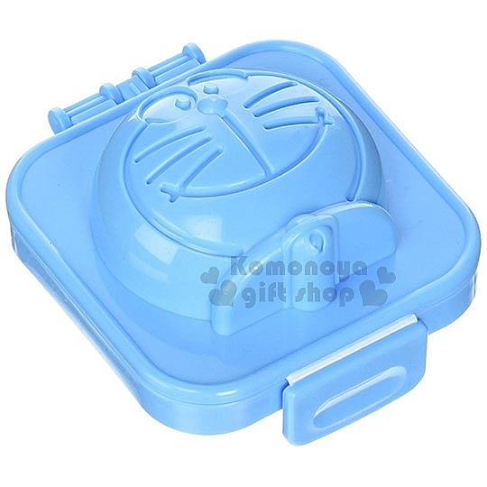 〔小禮堂〕哆啦A夢 日製塑膠水煮蛋模具《藍.大臉》可製冰.模型 4956810-80219