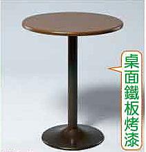 【南洋風休閒傢俱】桌椅桌腳系列 -鐵板烤漆圓桌 休閒桌 洽談桌 餐桌(584-1)