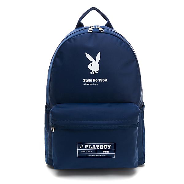 PLAYBOY 後背包 hashtag系列 藍色 192-8601-50-8