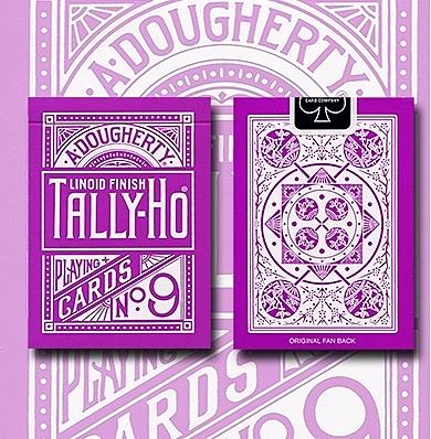 TALLY-HO LAVENDER ROSE 反紫色扇背 撲克牌