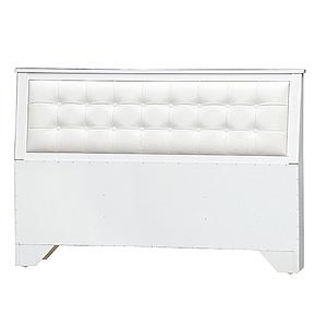 【YFS】馬勒第茲5尺白色床頭片-154.8x12.9x93.5cm