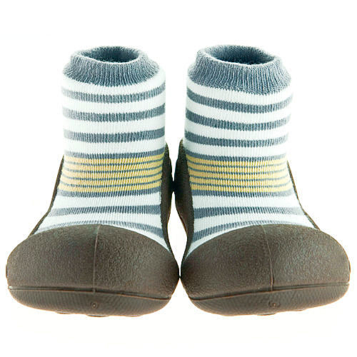 韓國 Attipas 快樂腳襪型學步鞋-花香棕