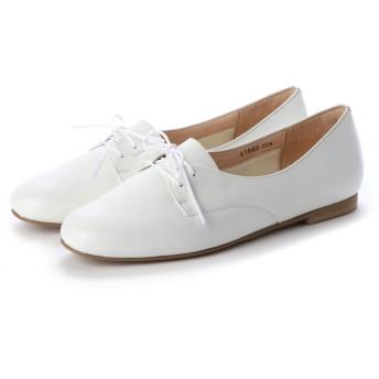 クートゥーフォロワーシューズ KuToo Follower Shoes ジェンダーフリー外羽根レースアップシューズ (ホワイト)