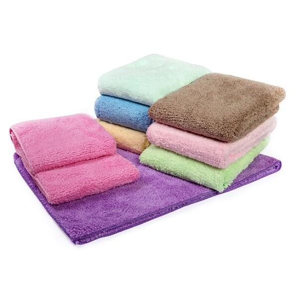 雪尼絨超吸水長毛浴巾隨機出貨不選色/一條入