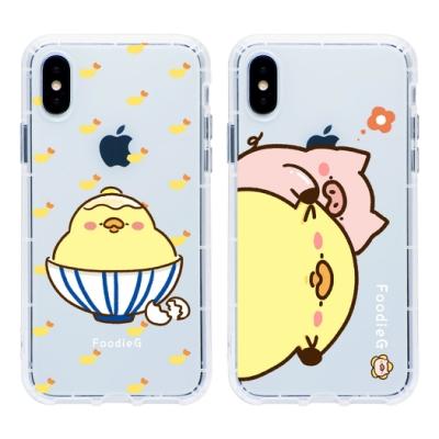【插畫家聯名】iPhone X/Xs 吃貨雞仔樂園透明手機殼