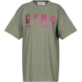 《セール開催中》GINA レディース T シャツ ミリタリーグリーン S コットン 100%