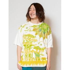 (CAYHANE/チャイハネ)【チャイハネ】サバンナビッグシルエットメンズTシャツ IDS-9227/メンズ イエロー