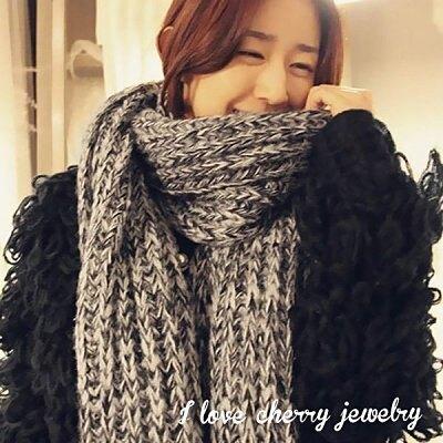 韓劇想你時尚加厚針織毛巾 圍巾
