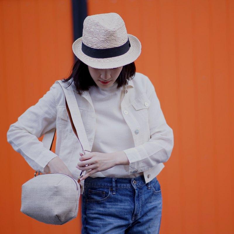 長袖外套天然薄棉織物:牛仔夾克